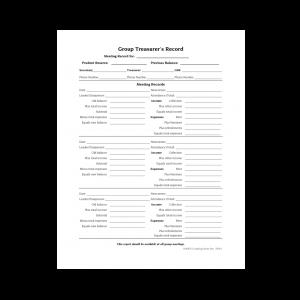 Group Treasurer's Record